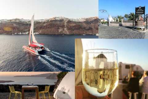 Santorini: Catamaran Cruise, Winery, & Oia Sunset Combo Tour