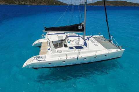 St. Thomas: Private 50-Foot Voyage 500 Catamaran Sail