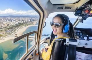 Barcelona: Stadt-Tour mit Rundgang, Hubschrauber-Flug & Boot