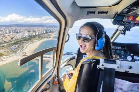 Barcelona: Guidet tur i byen med helikopter, gåtur og bådtur