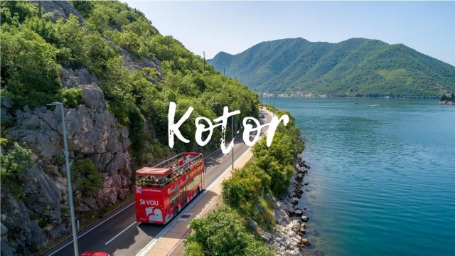 Kotor: hop on, hop off sightseeing-bustour en wandeltocht