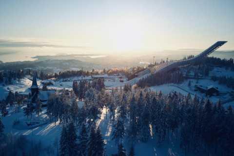 Oslo: Sledging in Holmenkollen