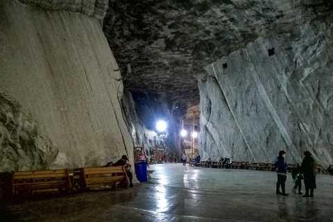 From Brasov: Day Trip to Praid Salt Mine and Jesus Statue