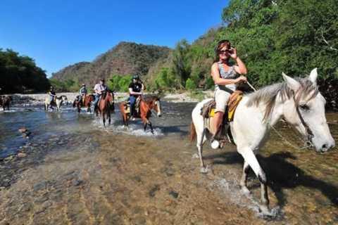 Puerto Escondido: paardrijden naar de hete bronnen van Atotonilco