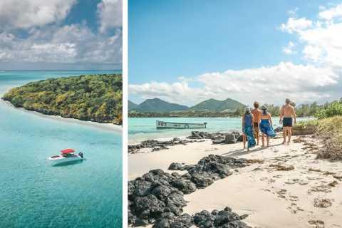 Mauritius: Dagstur med motorbåt till Ile aux Cerfs med mat