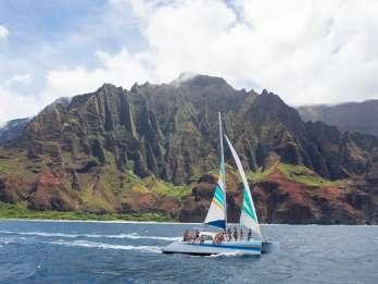 Kauai: Segelschiffahrt bei Sonnenuntergang mit Buffet
