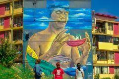 Valparaíso: oficina de arte urbana e de rua