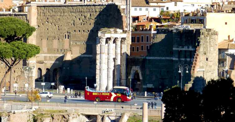 Rome: Hop-On-Hop-Off Bus & Guided Catacombs Tour