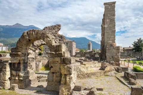 Aosta: tour privato a piedi con degustazione di cibi e vini