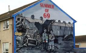 Political Wall Murals and Peacewall