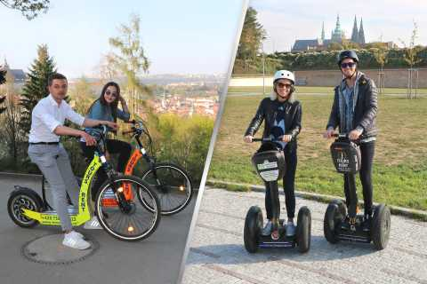 Prague: Private Combined Tour on Segway and E-scooter