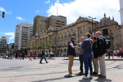 Bogotá: excursão a pé privada pela Candelária e Museu do Ouro
