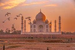 De Agra: excursão privada de meio dia ao Taj Mahal e ao forte de Agra