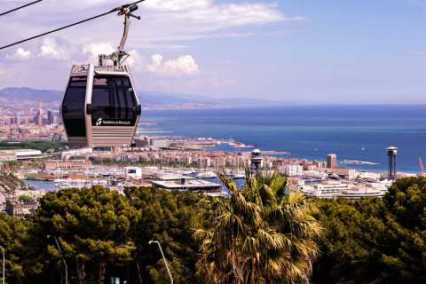 Barcelona 360°: Tour by E-Bike, Boat & Cable Car