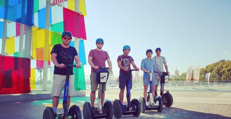 Málaga: Segway- und Roller-Tour zum Park, Hafen & Palast