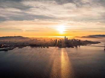 San Francisco: Flug zum Sonnenuntergang