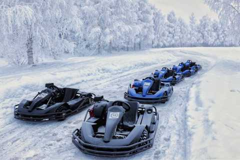 Rovaniemi: Ice Karting and Snowmobiling