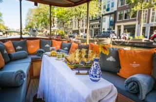 Amsterdam: Luxusfahrt im Salonboot mit Getränken & Käse
