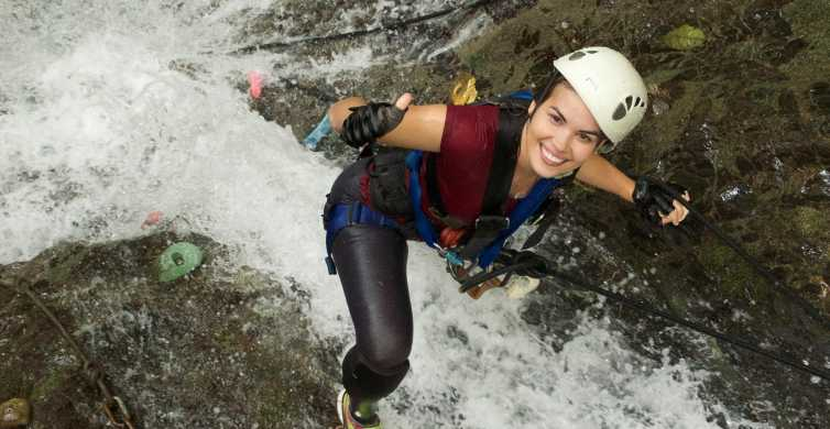 From Jaco: Sky Bridge & Waterfall Climbing Rainforest Tour