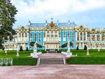 Puschkin: Führung im Katharinenpalast und -park