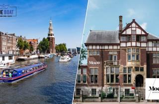 Amsterdam: Grachtenfahrt und Moco-Museum Kombi-Ticket