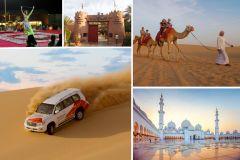 Abu Dhabi: Pacote com Excursão Turística e Safári no Deserto