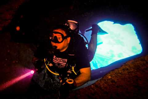 From Hurghada: Night Dive in the Red Sea with Transfers