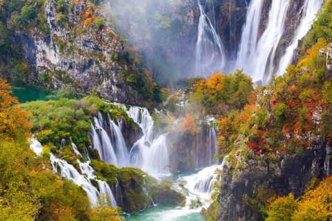 From Split or Trogir: Plitvice Day Tour with Entry Included