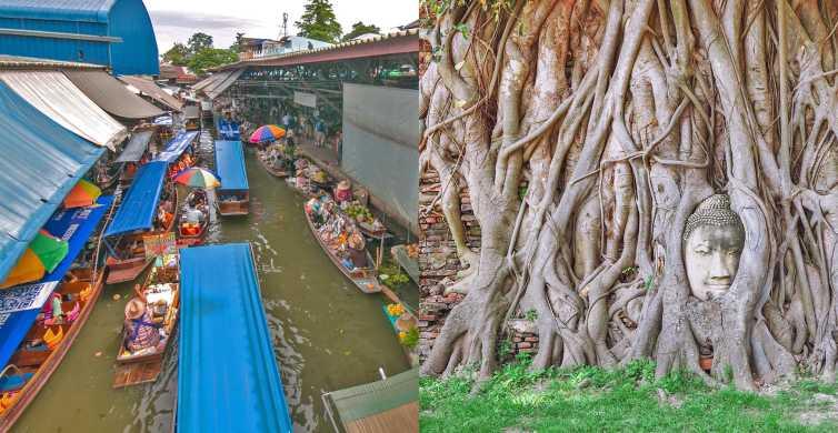 De Bangkok: Excursão Combinada Damnoen Saduak e Ayutthaya