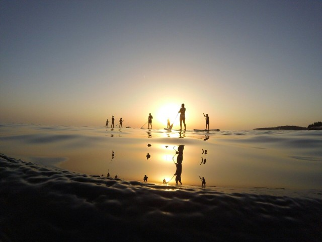 Pula: 1,5 uur Stand-Up Paddleboard Sunset Tour