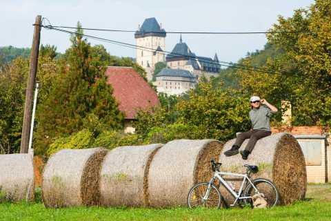 Prag till Karlstejn Castle heldags cykeltur