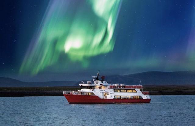 Reykjavik: Noorderlicht, boottocht van 2 uur