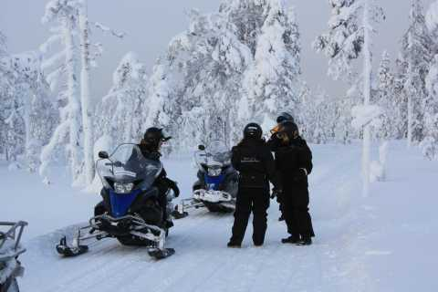 Rovaniemi: Snowmobile to Reindeer, Husky Farm, Santa Village