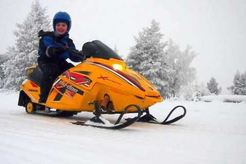 Levi: Lapland Family Snowmobile Safari
