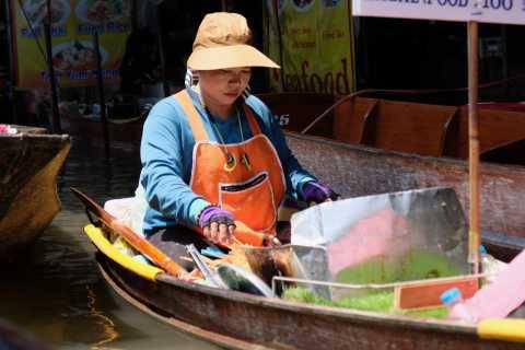 Bangkok: Railway Market and Floating Market Small-Group Tour