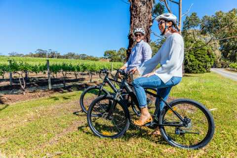 Selvutleie elektrisk sykkeltur i McLaren Vale vinregion