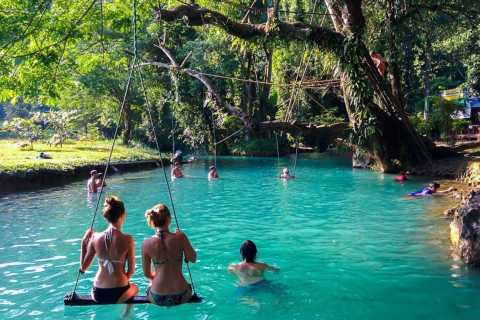 Vang Vieng: Blue Lagoon and Countryside Bike Tour with Lunch