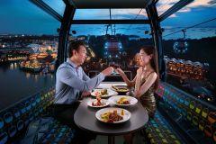 Teleférico de Cingapura: Experiência Premium em Cabine de Jantar