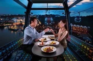 Singapore Cable Car: Premium-Abendessen in einer Gondel