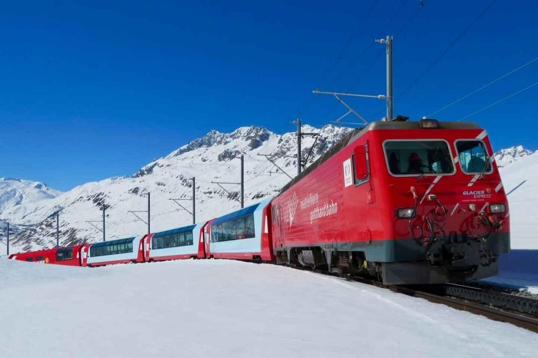 Ab Basel: Tagestrip im Glacier Express mit Privatguide