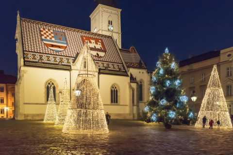 Zagreb: rondleiding met kerstmarkt