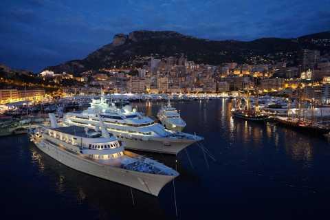 Mónaco y Montecarlo de noche desde Niza