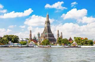 Bangkok: Alte-Tempel-Tour & Rooftop-Bar bei Sonnenuntergang