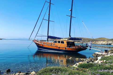 Mykonos: South Coast Beach Hopping Boat Tour with BBQ Lunch
