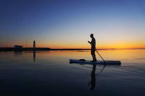 Reykjavik: Small-Group SUP Sunset Tour
