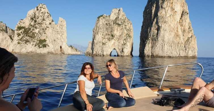 Capri: Semi-Private Boat Tour and Grotto Visit