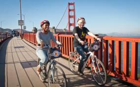 Cycle The Golden Gate Bridge and Alcatraz Ticket