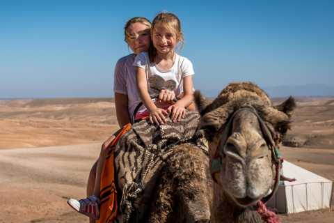 Marrakech: Agafay Desert & Oasis Camel Experience with Snack