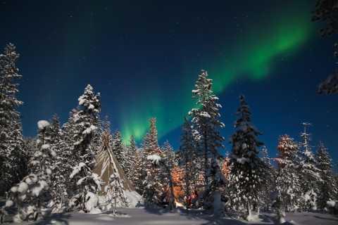 De Rovaniemi: Aurora Boreal e piquenique