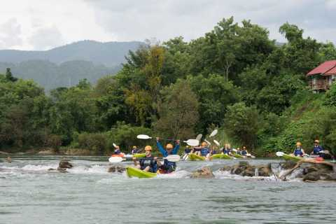 Half-Day Nam Song River Kayak Tour with Zipline or Tham None